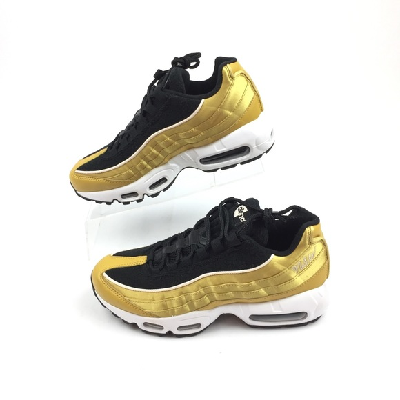 44abf8f4ad Nike Shoes | Air Max 95 Lx Womens Running Gold Black | Poshmark